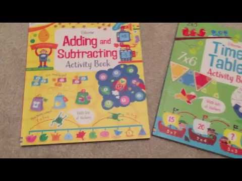The Usborne Bookshelf - Adding & Subtracting and Times Tables Activity Books