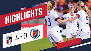 USA 4-0 HAITI Olympic Qualifier Highlights | Jan. 28, 2020 | Houston, TX - BBVA Stadium