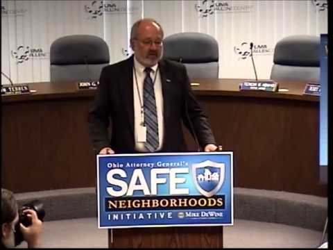 Ohio Attorney General Mike DeWine's Safe Neighborhoods Initiative--January 14, 2014