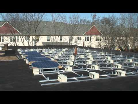 Educational illustration of commercial solar energy installation