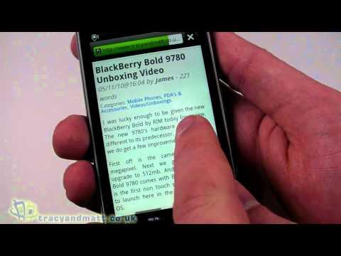 HTC Desire Z demo video