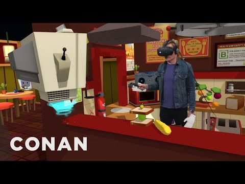 Conan Visits &39;s VR Lab  - CONAN on TBS