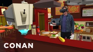 Conan Visits YouTube's VR Lab  - CONAN on TBS