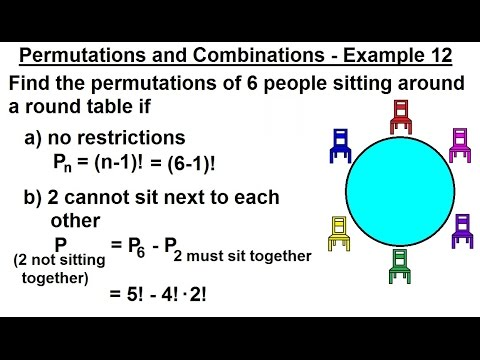 Probability & Statistics (47 Of 62) Permutations And Combinations - Example 12