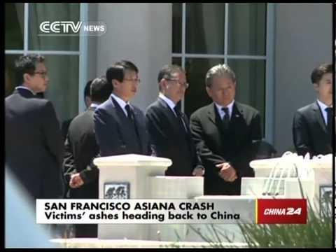 Asiana Crash Victims' Ashes Heading Back to China