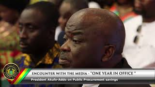 Encounter with the Media: President Akufo Addo on savings made in public procurement