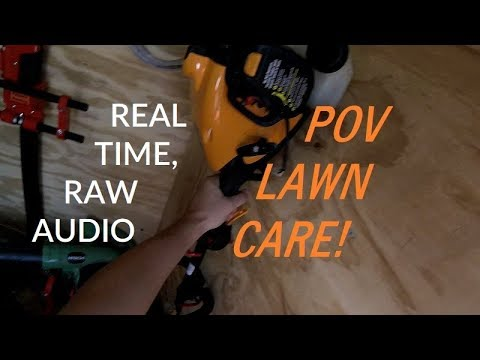 Full Service Lawn Care #1 - POV, Real Time, Raw Audio (Mowing, Trimming, Edging, Blowing)