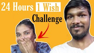 1 wish challenge on Girlfriend | Living in Bathroom for 24 hours Challenge | Worst challenge Part 1