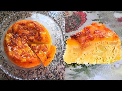 Пирог перевертыш с яблоками в мультиварке