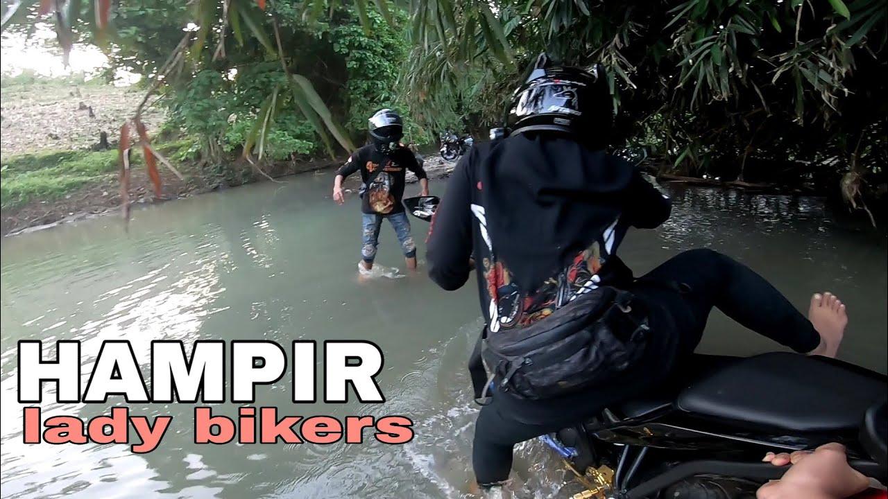 LADY BIKERS| PENDEK TERHORMAT,motor lebih tinggi dari pada kaki| 2 kuproy nyasar Di Lampung