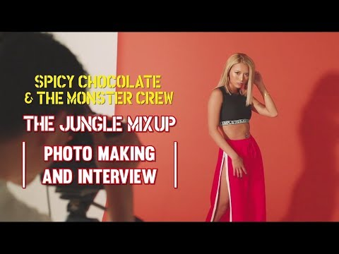 "SPICY CHOCOLATE×egg専属モデル""ぴと""SPICY CHOCOLATE & THE MONSTER CREW『THE JUNGLE MIX UP』ジャケット撮影風景"