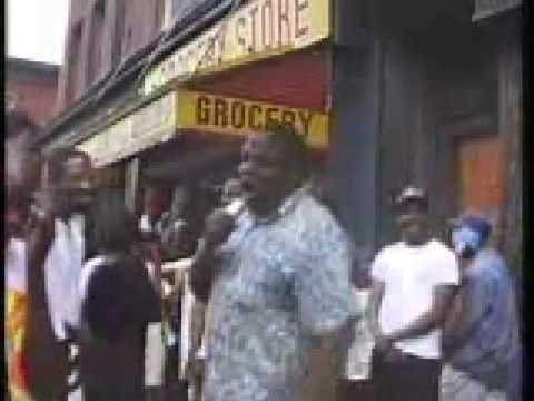 Biggie On Fulton Avenue in Brooklyn