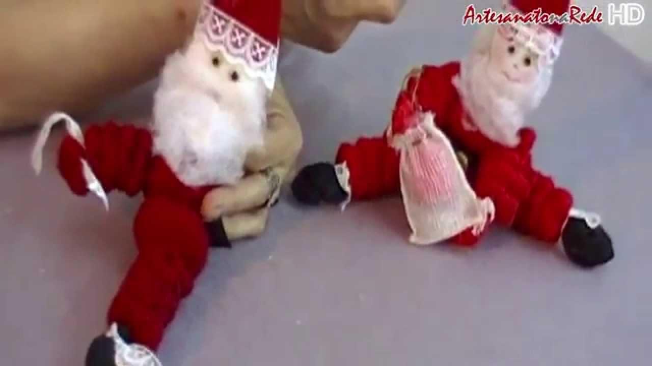 Aparador Barba Worten ~ Vídeo Aula Papai Noel de Fuxico Artesanato na Rede Parte 3 YouTube