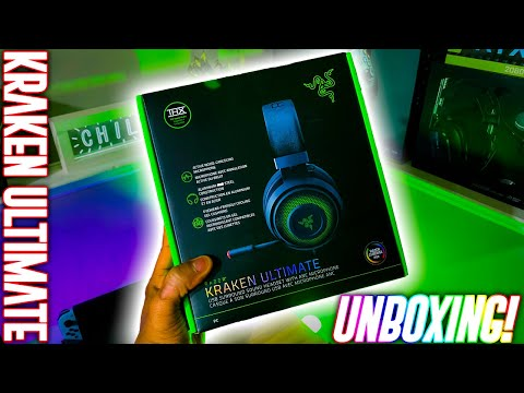 UNBOXING RAZER KRAKEN ULTIMATE! Mic Test And First Impressions