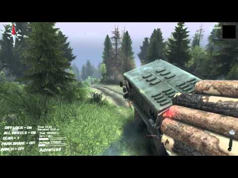 Spintires Walkthrough  - Volcano long logs delivery
