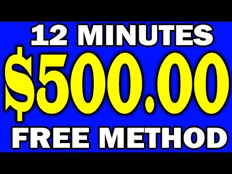 Earn $500 in 12 Mins for **FREE** NOW! (Make Money Online!)
