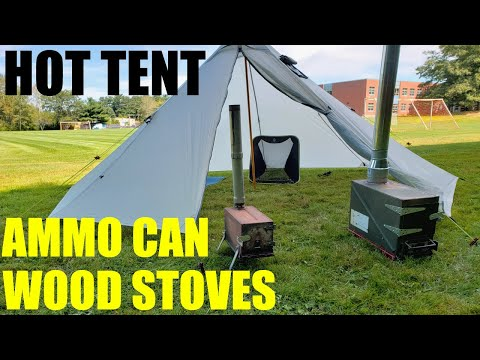 d.i.y hot tent soves. Ammo can stoves!!