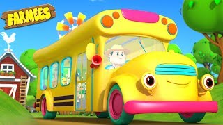 Wheels on the Bus Nursery Rhyme + More Songs for Children