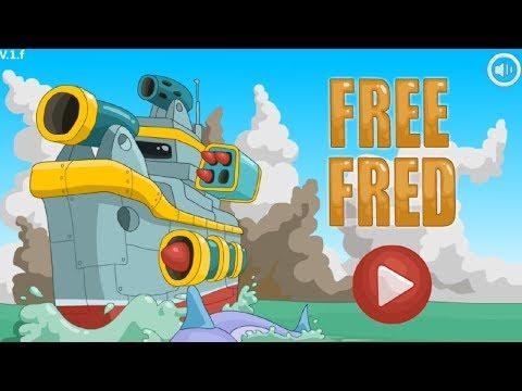 Флеш игры! Маленький военный кораблик! Свободный Фред! Free Fred прохождение #1