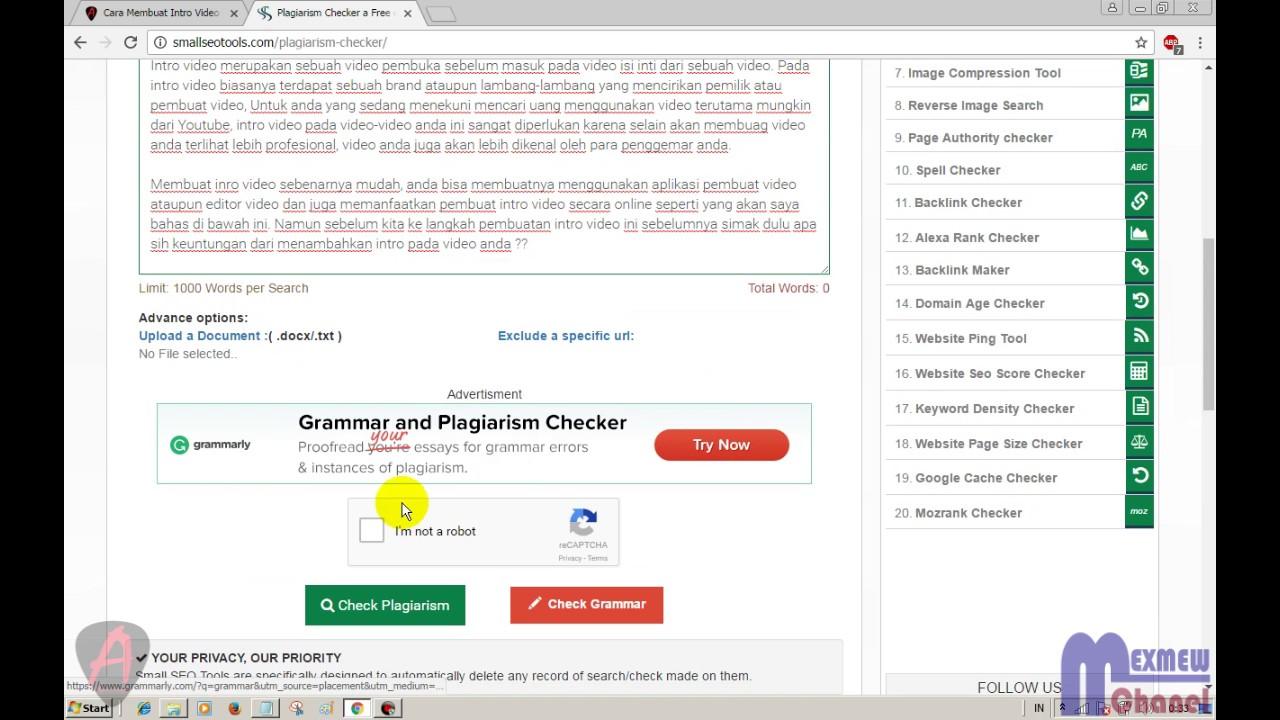 Cara Cek Originalitas Artikel Hasil Copy Paste Atau Bukan Plagiarism Checker