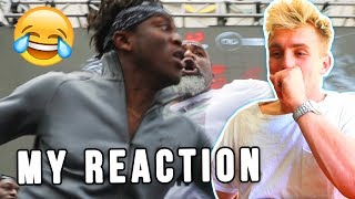 MY REACTION TO THE KSI VS LOGAN PAUL FIGHT **INSANE**
