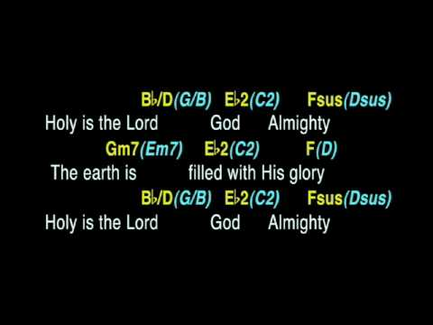 Holy Is The Lord - backing track with guitar chords