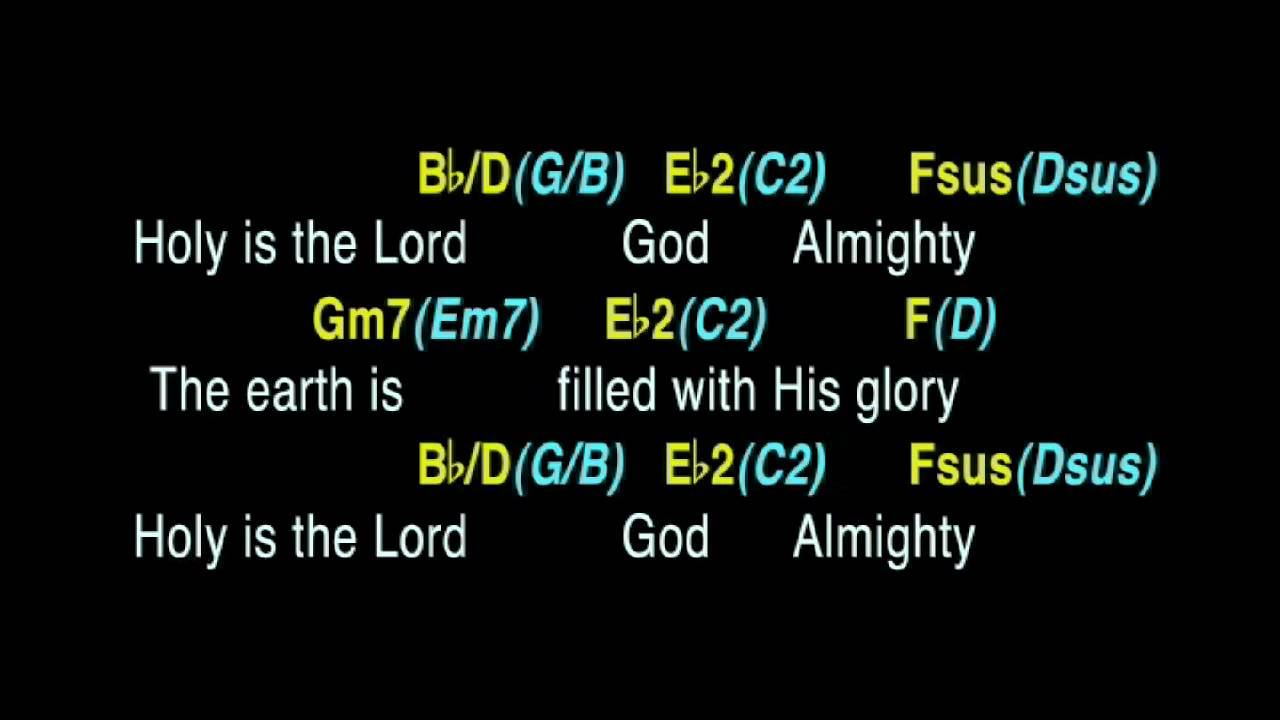 Holy Is The Lord Backing Track With Guitar Chords Youtube