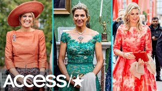 Queen Maxima Stuns In Multiple Bold Looks On Official Visit To Ireland | Access