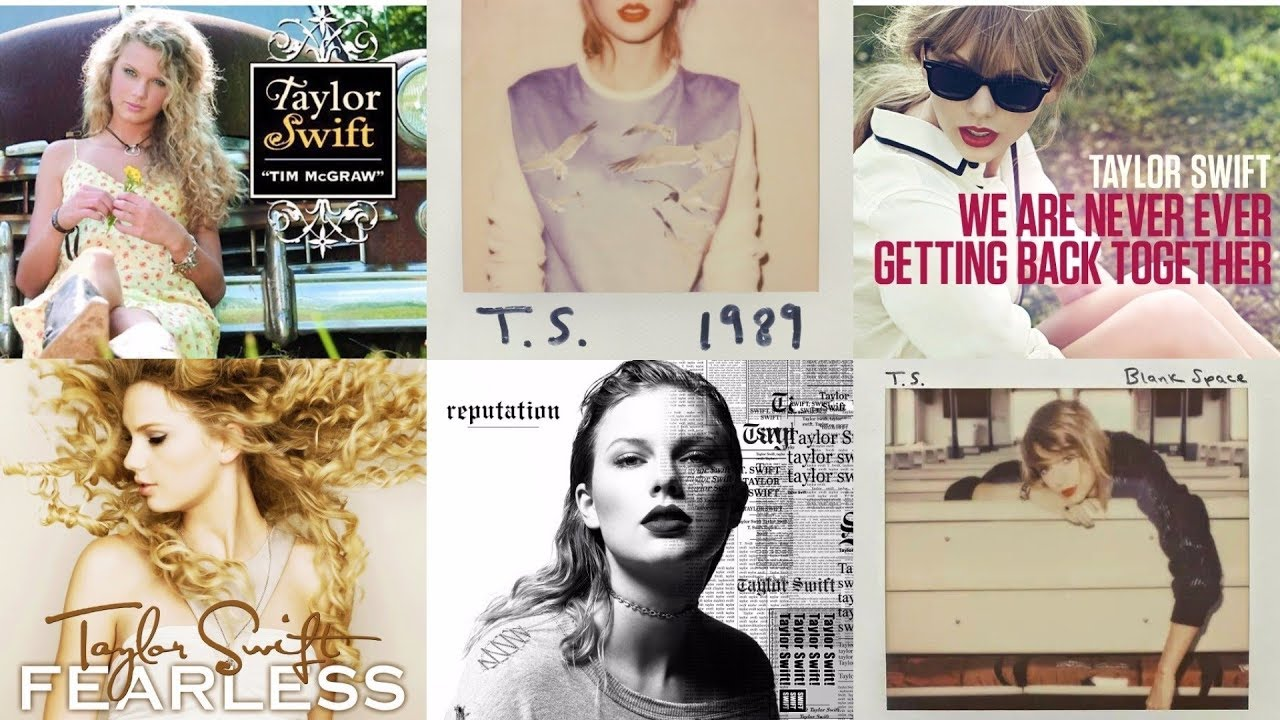 All Of Taylor Swift S Single And Album Covers Through The Years Youtube