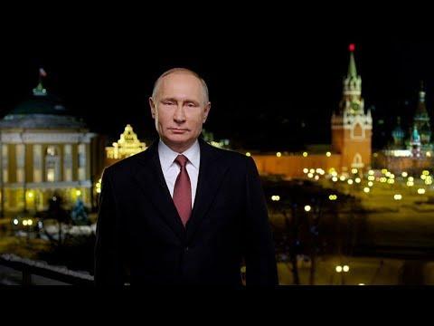 Vladímir Putin celebra la llegada del 2018 dirigiéndose al pueblo ruso