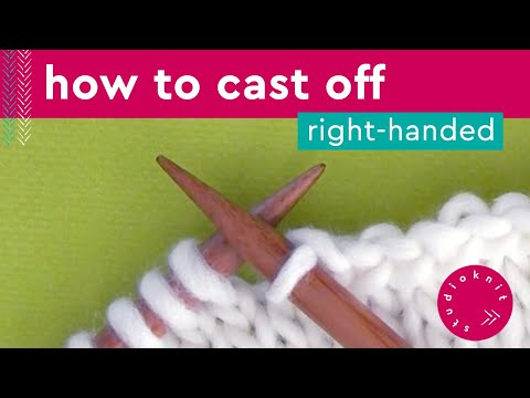 HOW TO CAST OFF KNITTING STITCHES 💖 Bind Off Step by Step