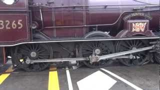 wheel spin from steam loco 3265