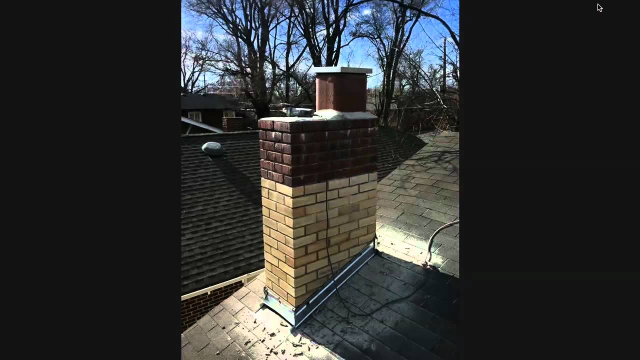 How To Tuck Point Large Chimney Repair You