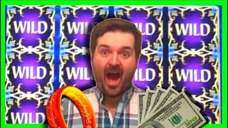 MASSIVE WINNING on Lord Of The Rings Slot Machine With SDGuy1234