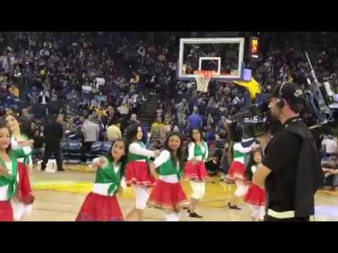 Iranian dance at Golden state vs Oakland game!