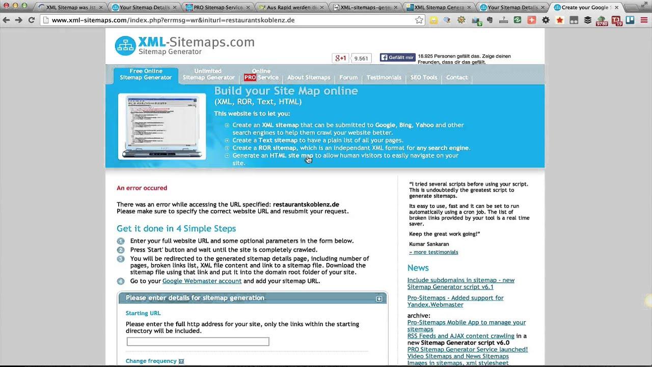 xml sitemaps einfach eine html sitemap erstellen mit xml sitemaps