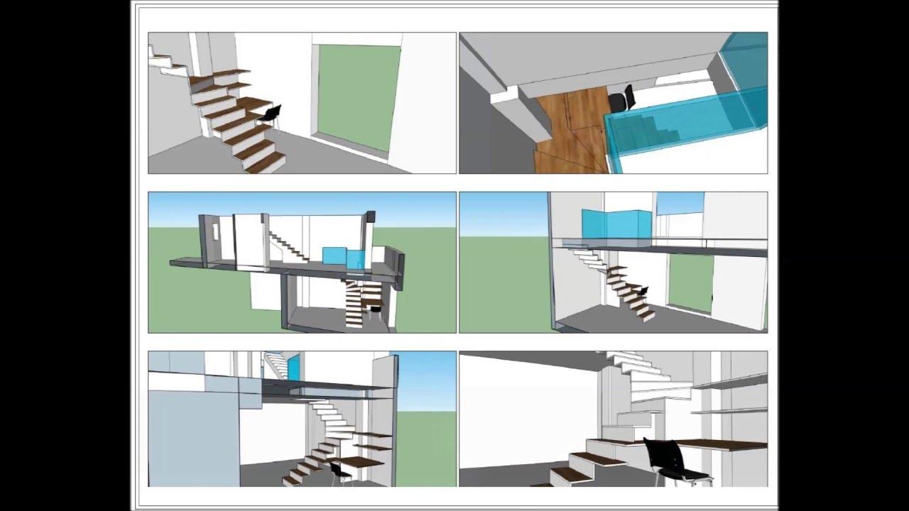 Escalera de dise o en vivienda en el papiol youtube - Escaleras para viviendas ...