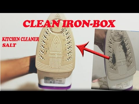 How to Remove Iron Box Stains/Dirt using Kictchen CLEANER and SALT