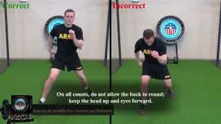 CONDITIONING DRILL 3 EXERCISE 6: STRADDLE-RUN FORWARD AND BACKWARD