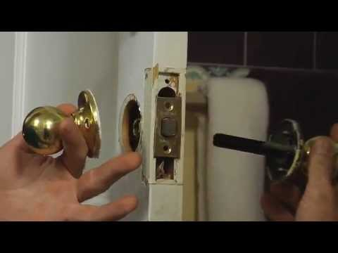 How to Install a Doorknob YouTube