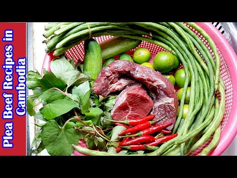 Culinary Cooking, homemade food, Phlea Beef Recipes in Cambodia