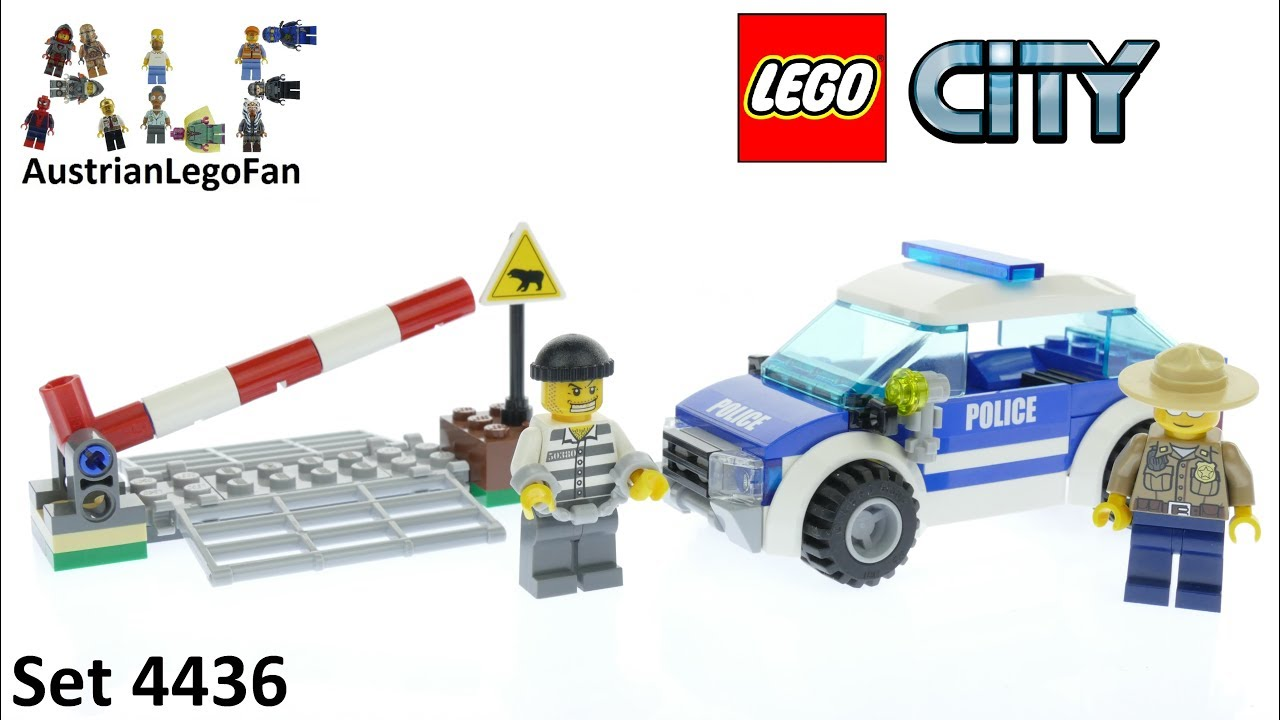 Lego City 4436 Patrol Car Forest Police Lego Speed Build Review Youtube