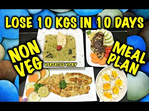 How to Lose Weight Fast 10Kg in 10 Days – 1200 Calorie Non Veg Meal Plan | Diet Plan