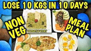 How to Lose Weight Fast 10Kg in 10 Days - 1200 Calorie Non Veg Meal Plan | Diet Plan