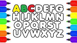 How to Draw Alphabet ABC and Mobile Phone Art For Kids - Coloring Pages For Children