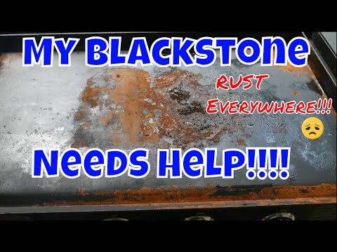 How to restore a rusty Blackstone griddle top