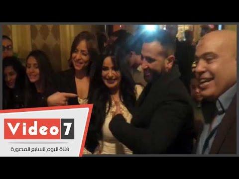 اليوم السابع : أحمد سعد وخطيبته ريم البارودى أول حضور عيد ميلاد ابنة المطربة هدى