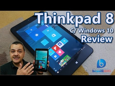 Thinkpad 8 - Tablet da Lenovo com Windows 10 - Review (Análise completa em Português)!