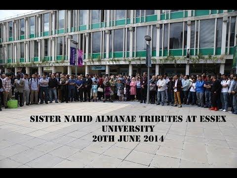 Essex ISOC   Sister's Nahid Tributes