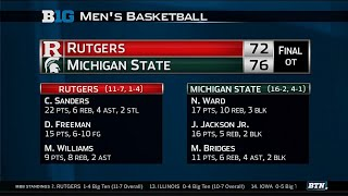 Rutgers at Michigan State - Men's Basketball Highlights